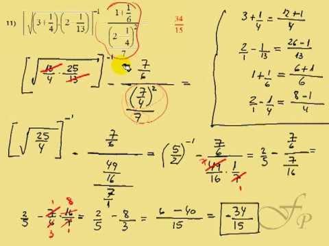 fracciones numeros racionales: