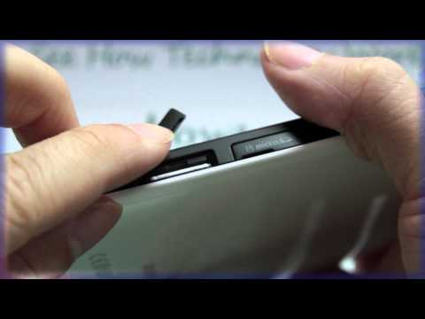 Samsung GALAXY Tab: Inserting the SIM Card