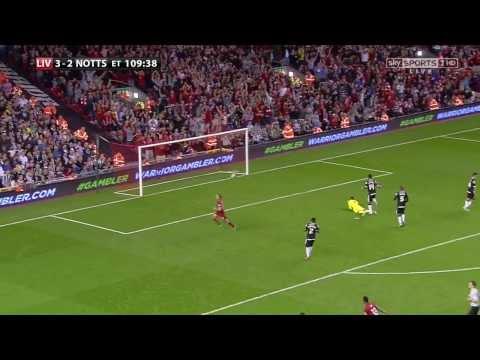Jordan Henderson Brilliant goal vs Notts County [4-2] League Cup