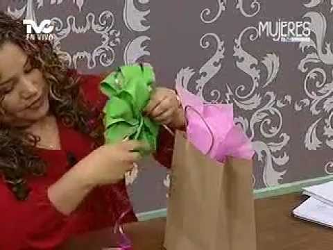 C mo hacer mo os para decorar un regalo metvc youtube for Decorar regalos