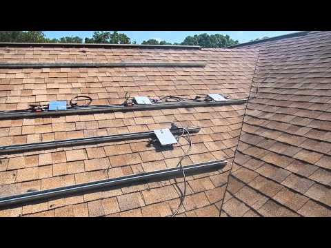 SOLAR ENERGY FLORIDA Fla-strut flush mounting and micro inverter installation