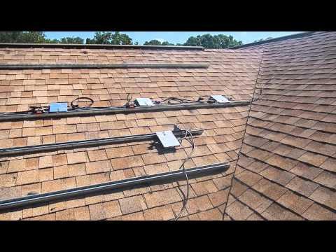 SOLAR ENERGY FLORIDA Fla-strut flush mounting and micro inverter installation