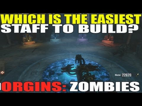 Origins: Which Staff Is Easiest To Build? Fire Ice Wind Lightning? (Black Ops 2 Zombies)