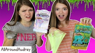 ARE THESE SLIME KITS WORTH $5? MAKING CRAZY SLIME! / AllAroundAudrey