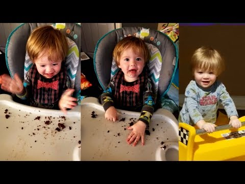 1 Year Old Eats His 1st Dingdong