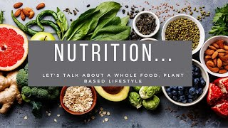 Let's talk about a Whole Food, Plant-Based Lifestyle