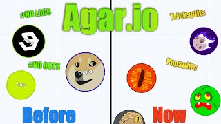 Agar.io - BEFORE vs. NOW (HOW AGARIO HAS CHANGED?!)