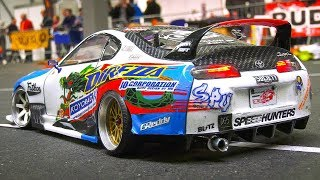 GREAT RC SCALE MODEL DRIFT CAR TOYOTA SUPRA IN DETAIL AND DRIFT PERFORMANCE!!