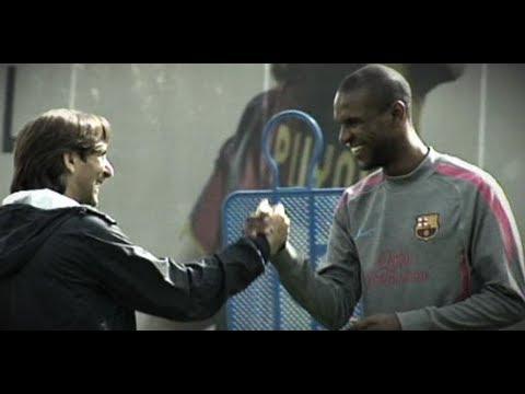Emotiva despedida de Eric Abidal del Barcelona