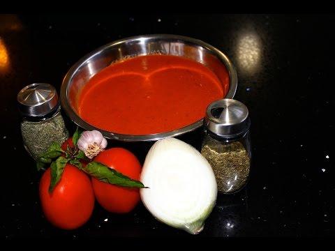 Receta de salsa para pizza y pasta