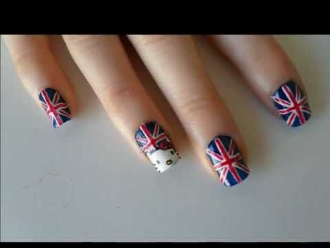 HELLO KITTY FLAG ENGLISH NAILS