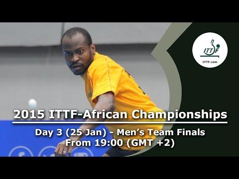 2015 ITTF-African Championships Day 3 - Men's Team Finals