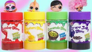 Food vs Slime LOL Surprise Hide in Random Halloween Treats