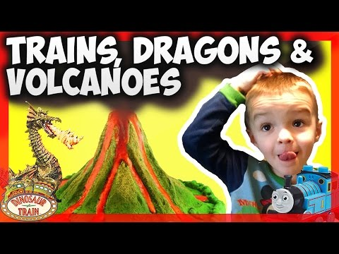 Volcano Toy Fun Dinosaur Train Old Smoky DIY Volcano Lava Thomas Trackmaster Review