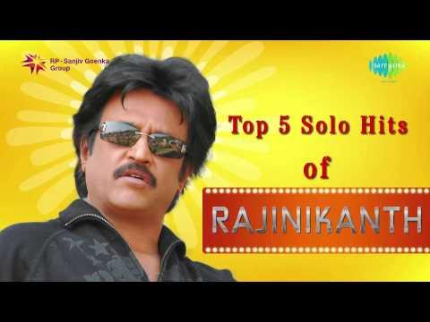 Top 5 Solo Hits Of Rajini | Tamil Movie Audio Jukebox video