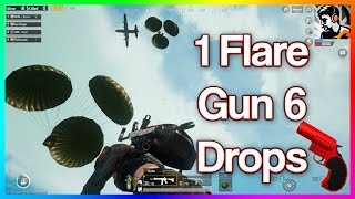 OMG 1 FLARE GUN AND 6 SPECIAL DROPS || ALL SERVER CAME TO KILL US || PUBG MOBILE FUNNY MOMENTS