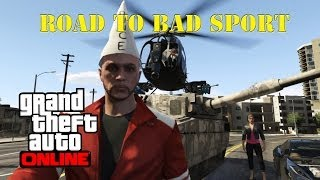 GTA 5 ONLINE - The Road To Bad Sport | How many Cars it Takes