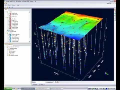 visual modflow 3d builder i  demo project geologic