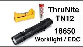BEST 18650 Work Flashlight ThruNite TN12 2016 in 4k UHD