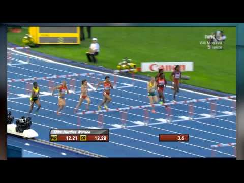 Moscow 2013 Women 100M Hurdles Semi Final 3 Sally Pearson 12.50