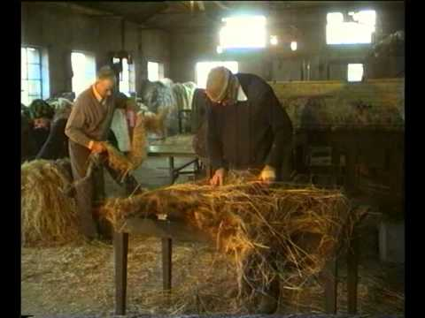 LINT AND LINEN scuttching the flax and making linen