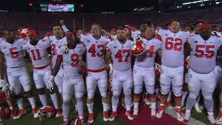 Clemson celebrates with Alma Mater after whipping Louisville