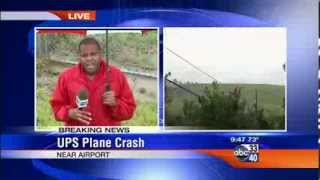video Larry Miller reporting live from the scene of the UPS plane crash in Birmingham, Alabama. Learn more at www.larrymillerd.com.