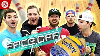 Dude Perfect Thanksgiving Turkey Bowling | FACE OFF
