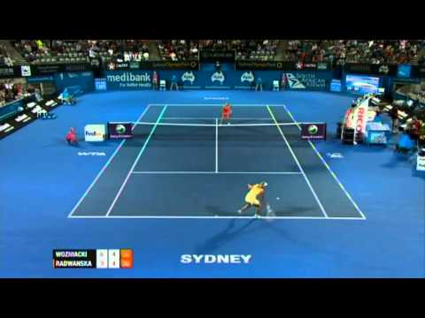 C. Wozniacki v A. Radwanska Highlights Women's Singles Quarter Final: Sydney International 2012