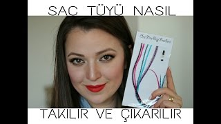 ((KAPANDI))SAÇ TÜYÜ NASIL TAKILIR VE ÇIKARILIR + SÜRPRİZ || HOW TO APPLY FEATHER HAIR EXTENSIONS