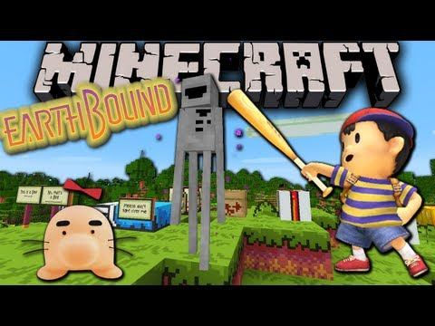 Minecraft 1.6: EarthBound Resource Pack! Custom Sounds. Music. Textures