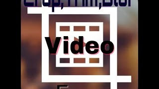 How to crop, trim, blur a video in android