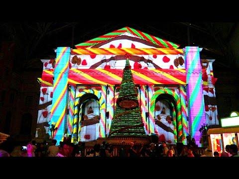 [HD] 3D CHRISTMAS LIGHTS @ Universal Studios Singapore, USS. WINTER TALES.