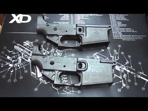Lightweight Polymer AR15 Lower Comparison - New Frontier LW15 and American Tactical Imports Omni