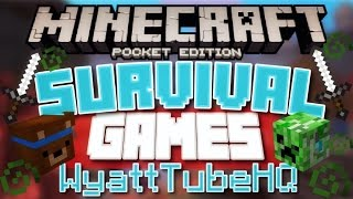 SURVIVAL GAMES WITH MY COUSIN [WyattTubeHD] // Minecraft PE {LBSG Survival Games} (MCPE)