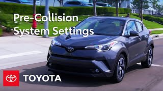 Toyota Safety Sense ™ Pre-Collision System (PCS) Settings and Controls | Toyota