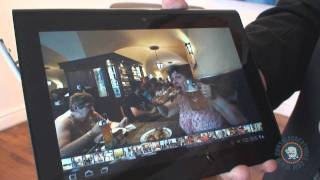 Sony Tablet S Hands On Video