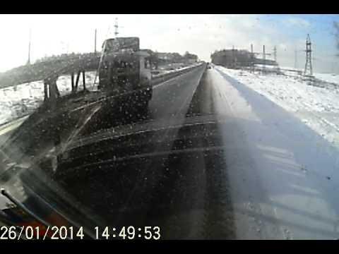 авария на первой бетонке 26.01.2014