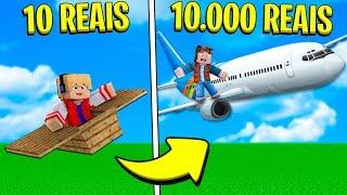AVIÃO DE 10 REAIS OU DE 10.000 REAIS NO MINECRAFT ! (QUAL É MELHOR?)