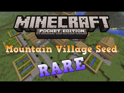 [0.10.4] Minecraft PE Amazing Mountain Village Seed and Endless Cave