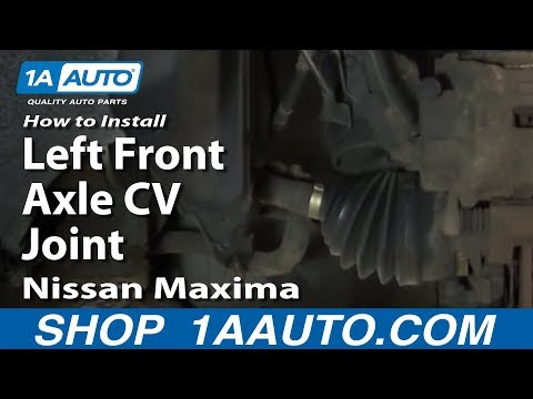 How To Install Replace Left Front Axle CV Joint 2002-03 Nissan Maxima Infiniti I30
