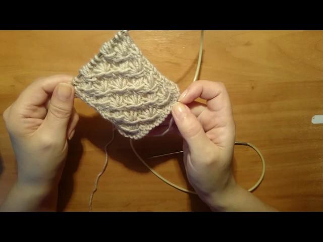 Вязание спицами: Простой узор для кардиганов # шапок 55