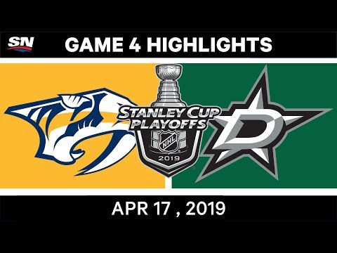 NHL Highlights | Predators Vs Stars, Game 4 – April 17, 2019