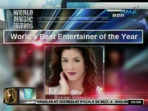 24 Oras: Regine Velasquez-Alcasid, nominado sa tatlong kategorya sa World Music Awards