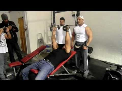 Nabil Athman at PMG GYM HARROW AKA PURE MUSCLE GYM OPENING PART1
