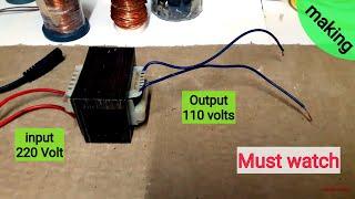 How to make 220v to 110v Transformer (Easy method)