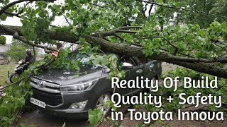 Toyota Innova Crysta Saved Life of Complete Family In Heavy Thunderstorm, Safety and Build Quality