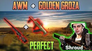 GOLDEN GROZA + AWM = PERFECT - Shroud win solo FPP [May-14] - PUBG HIGHLIGHTS TOP 1 #108