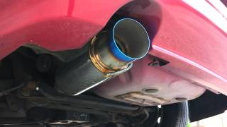 Straight Pipe with Apexi N1 Exhaust 2000 Mitsubishi Eclipse GT V6