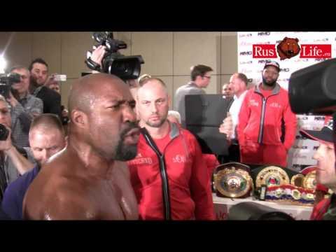 Briggs Skandal bei Pressekonferenz Klitschko Leapai 2014